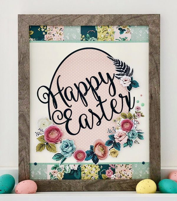 Easter themed home decor project by Sheri Reguly for Scrapbook & Cards Today Magazine
