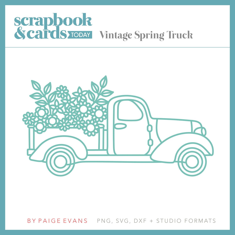 Vintage Spring Truck by Paige Evans