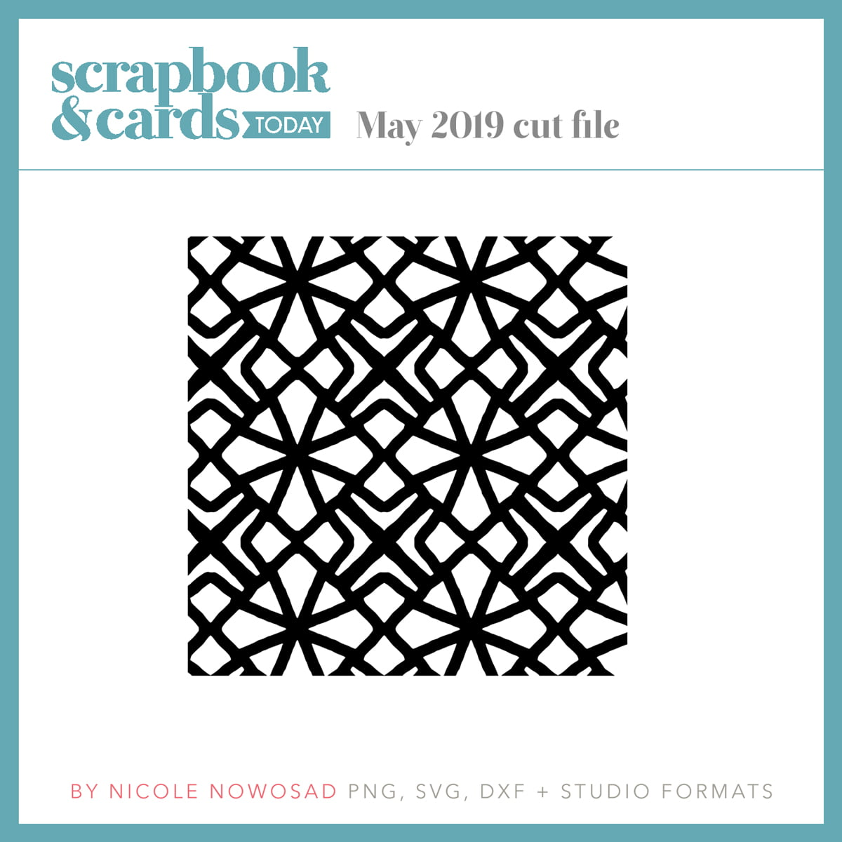 May 2019 free cut file from Scrapbook & Cards Today