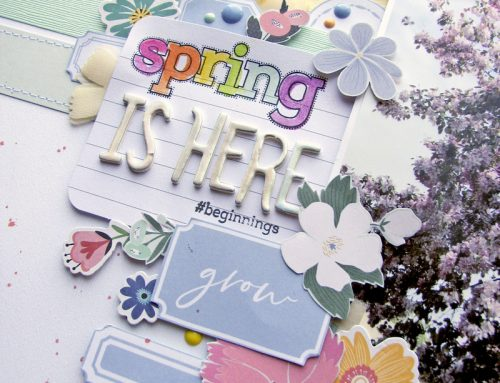 Designed with Nicole Nowosad feature our Spring Fling kit!