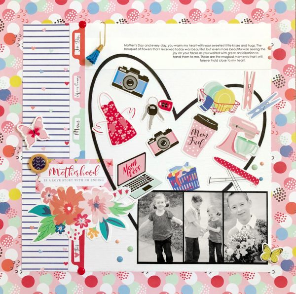 Mother's Day inspiration by Sheri Reguly for Scrapbook & Cards Today Magazine