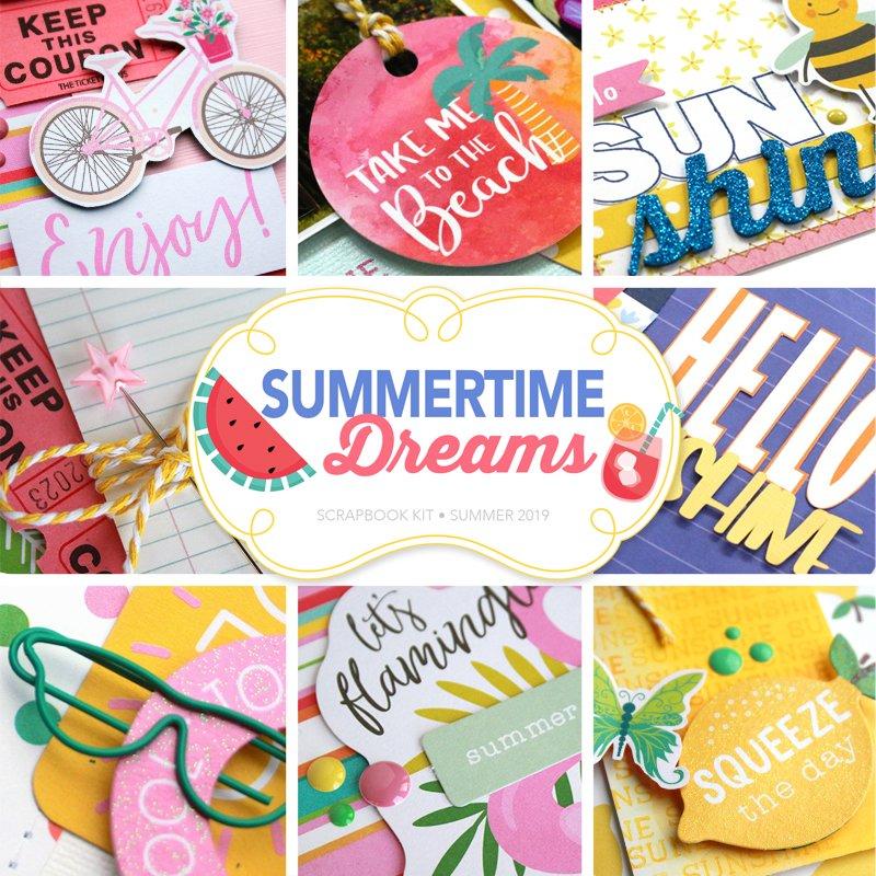 SCT Delivered Summertime Dreams Scrapbook Kit