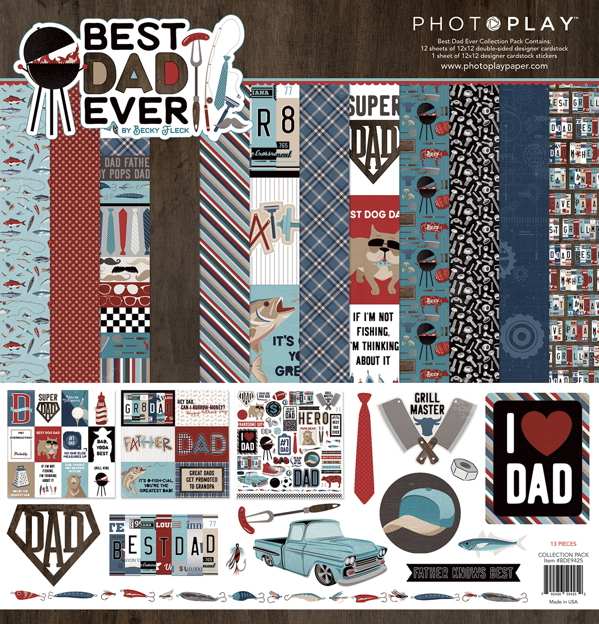 Photo Play Paper Best Dad Ever collection for SCT Magazine
