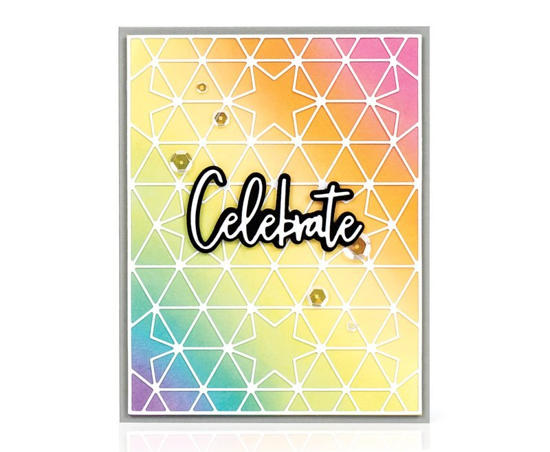 Celebrate card by Laura Bassen for Scrapbook & Cards Today