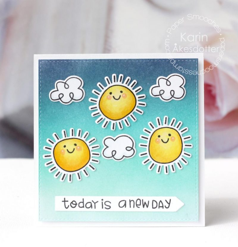 Today is a New Day card by Karin Akesdotter for Paper Smooches