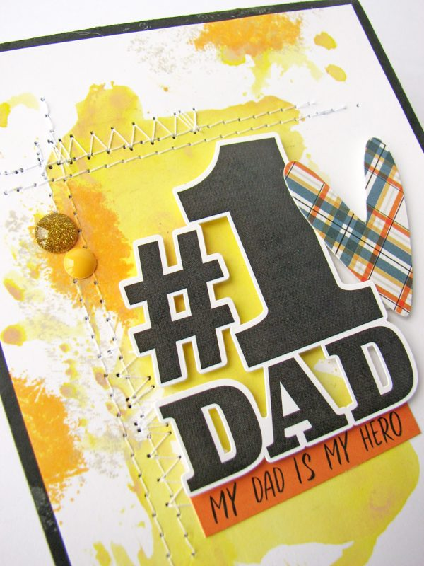 #1 Dad card by Nicole Nowosad for SCT Magazine