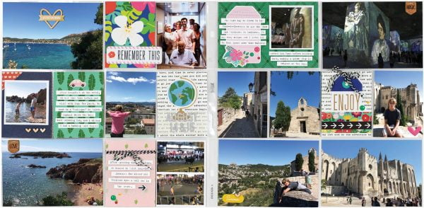 Scrapbook & Cards Today - Summer 2019 - Two Days in the South of France by Nathalie Leonelli