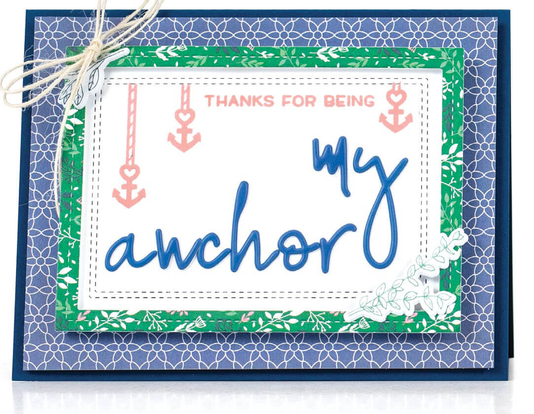 Scrapbook & Cards Today - Summer 2019 - My Anchor card by Latisha Yoast