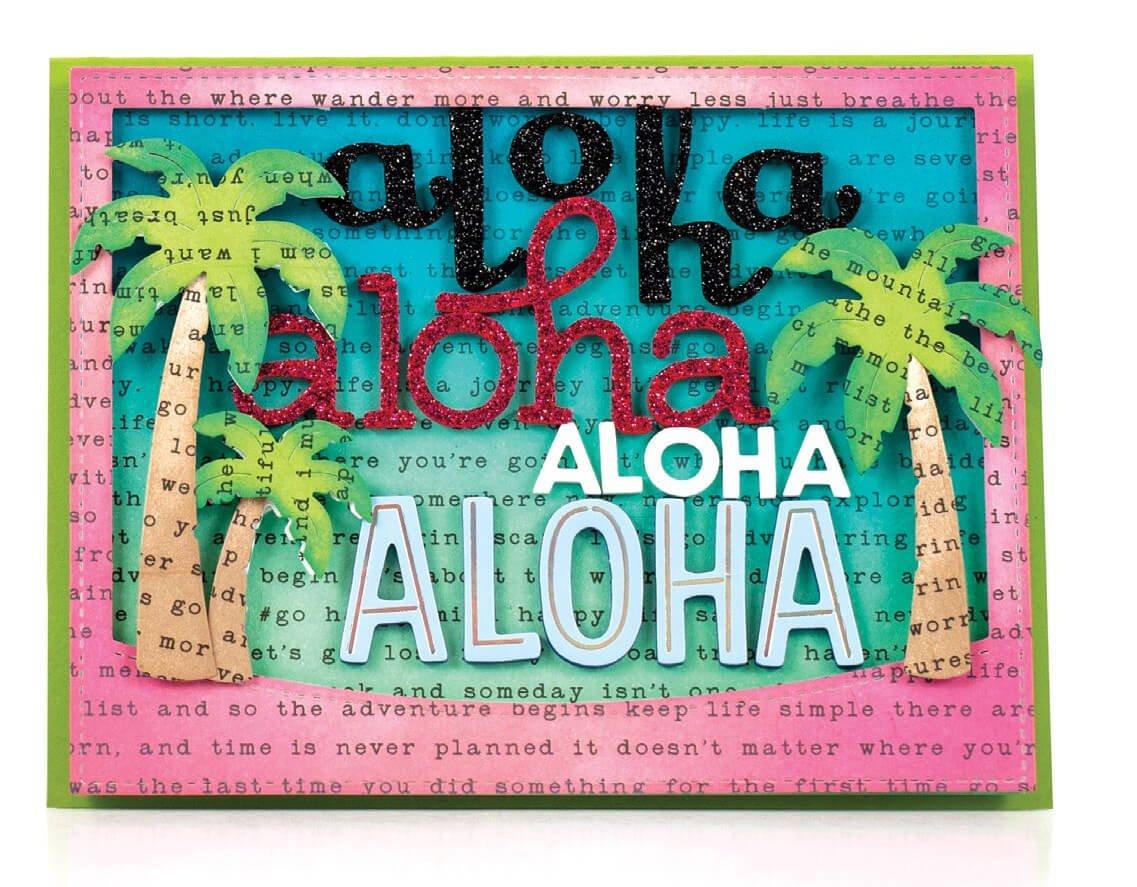 Scrapbook & Cards Today - Summer 2019 - Aloha card by Latisha Yoast