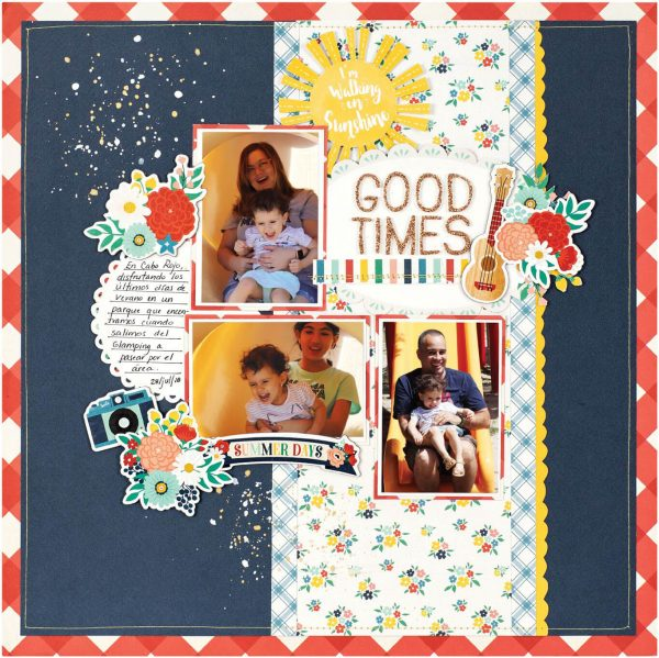 Scrapbook & Cards Today - Summer 2019 - Good Time layout by Rebeca Ruiz