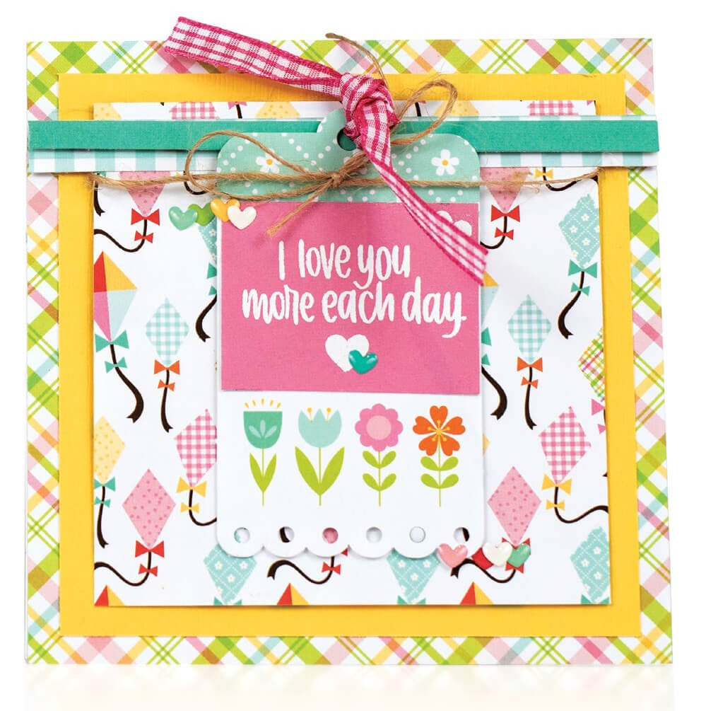 Scrapbook & Cards Today - Summer 2019 - I Love You More Each Day card by Crystal Thompson