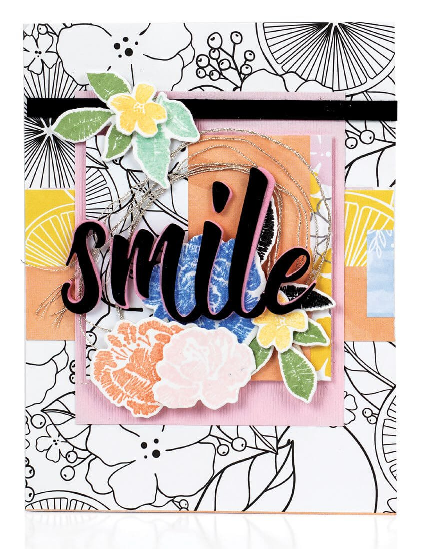 Scrapbook & Cards Today - Summer 2019 - Smile card by Crystal Thompson