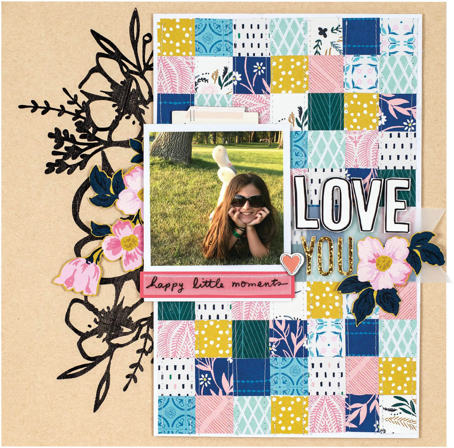 Scrapbook & Cards Today - Summer 2019 - Love You layout by Nicole Nowosad