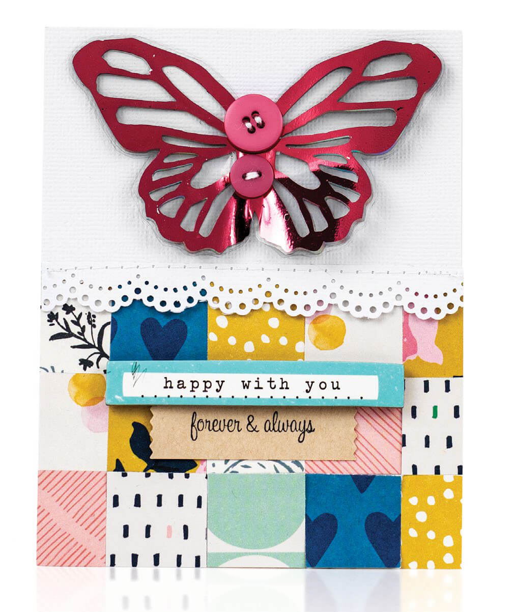 Scrapbook & Cards Today - Summer 2019 - Happy With You card by Nicole Nowosad