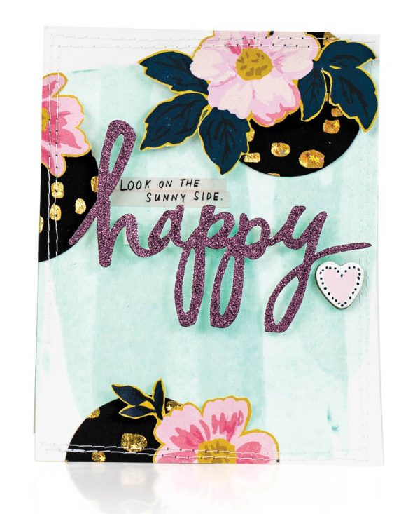 Scrapbook & Cards Today - Summer 2019 - Happy card by Nicole Nowosad