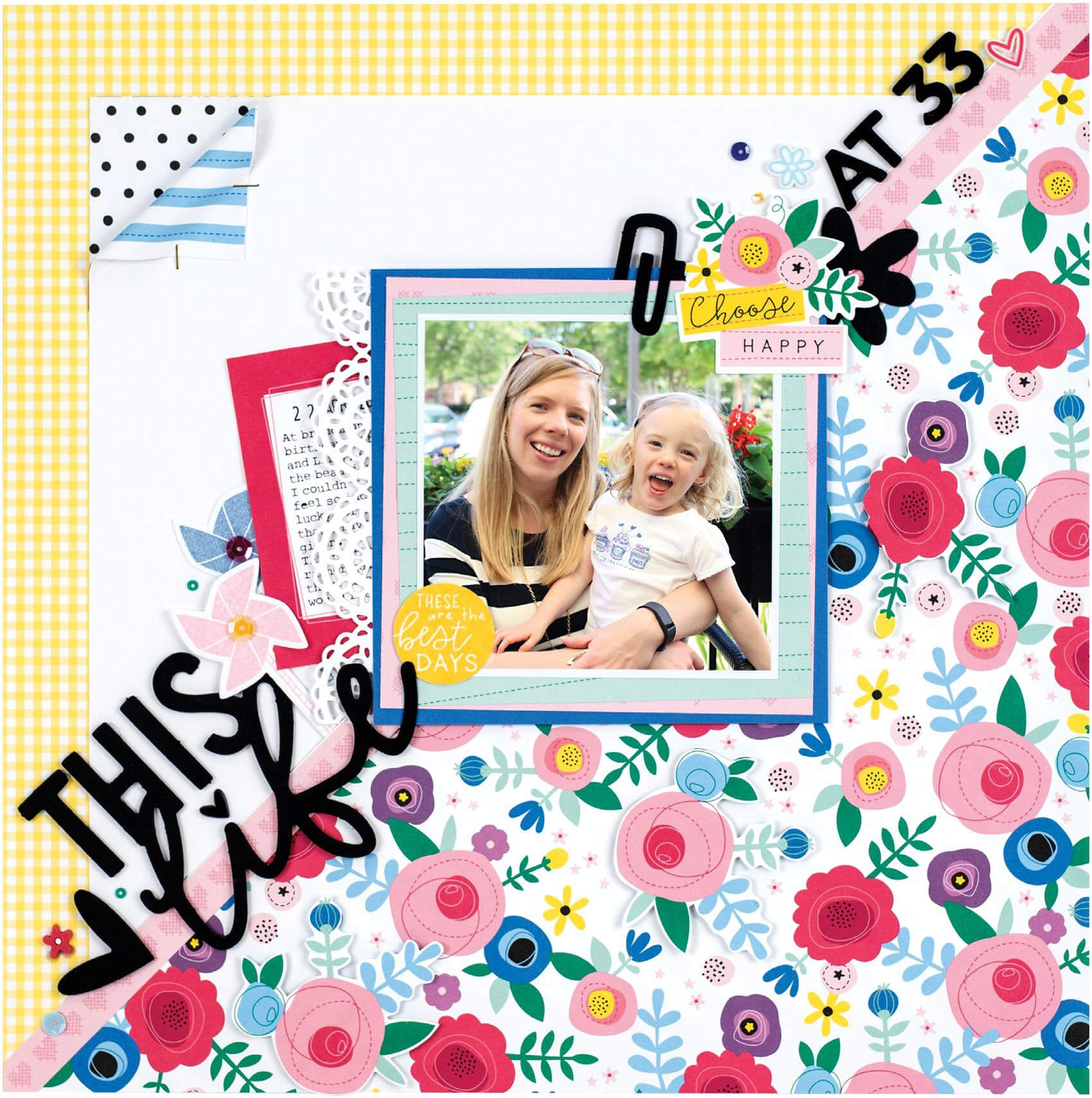 Scrapbook & Cards Today - Summer 2019 - This Life at 33 layout by Meghann Andrew