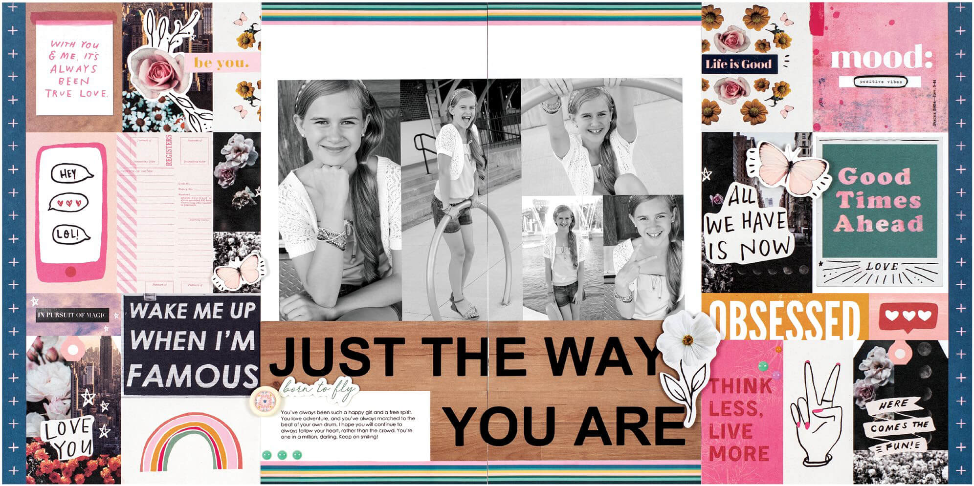 Scrapbook & Cards Today - Summer 2019 - Just The Way You Are layout by Sheri Reguly