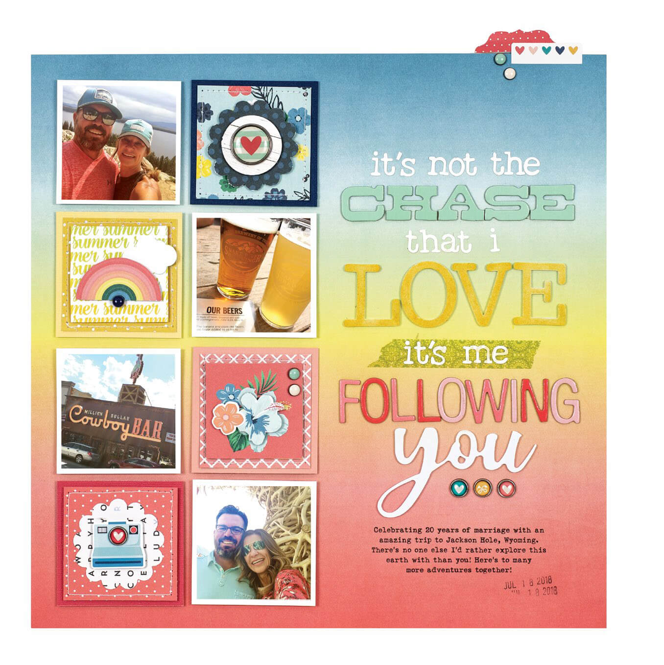 Scrapbook & Cards Today - Summer 2019 - It's Not The Chase layout by Lisa Dickinson