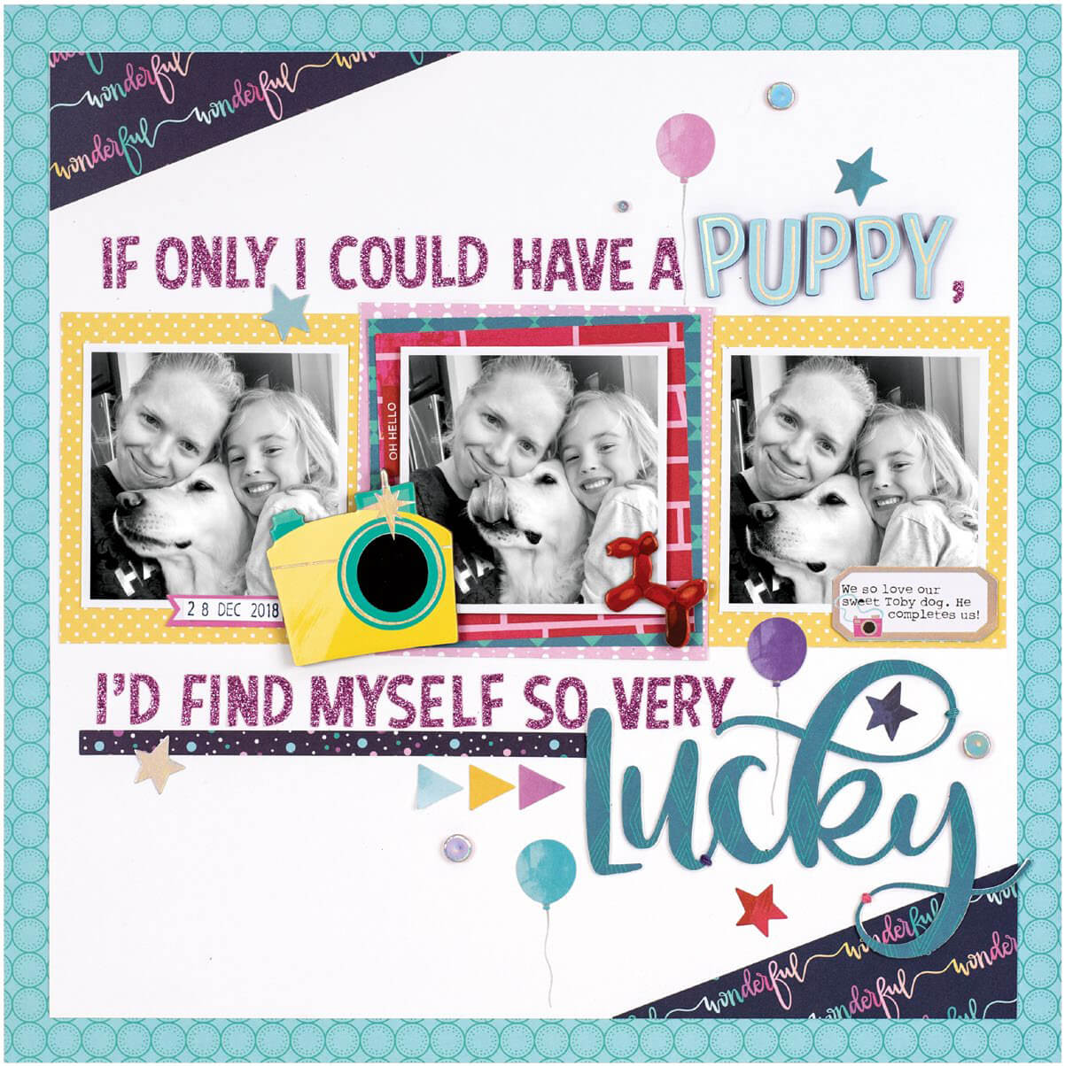 Scrapbook & Cards Today - Summer 2019 - So Very Lucky layout by Meghann Andrew