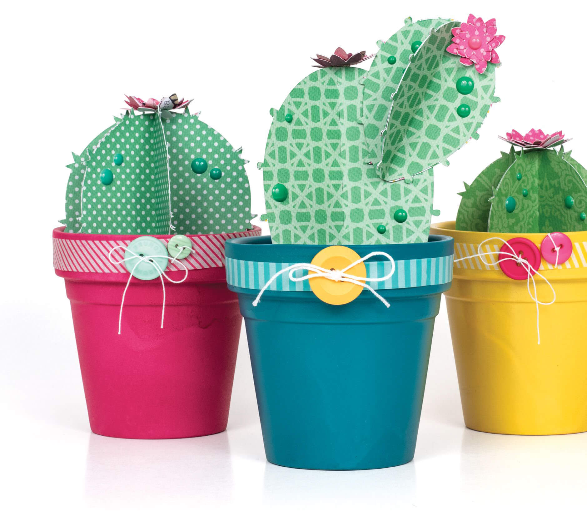 Scrapbook & Cards Today - Summer 2019 - Cactus Trio by Jennifer S Gallacher