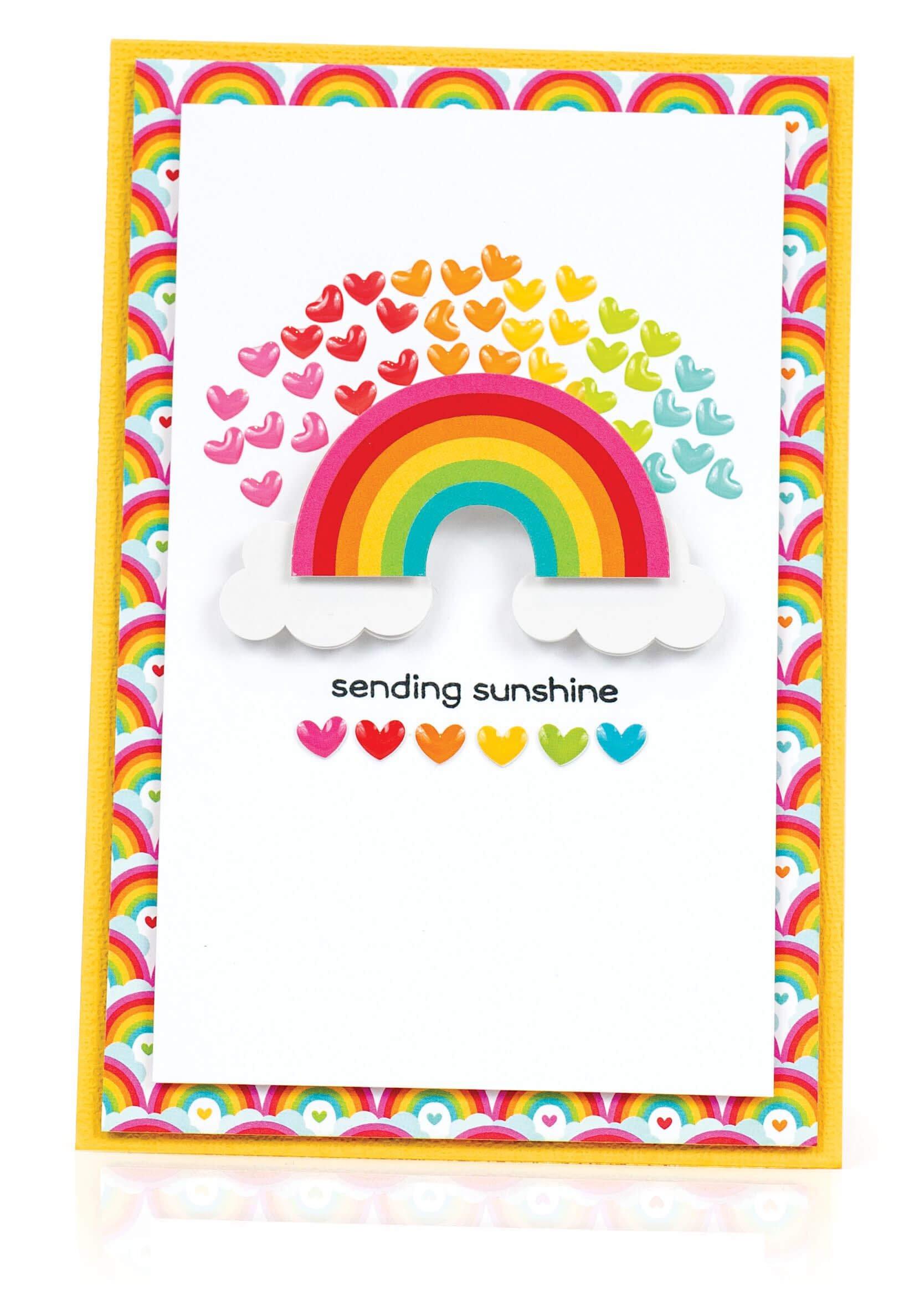 Scrapbook & Cards Today - Summer 2019 - Sending Sunshine card by Latisha Yoast