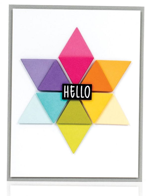 Scrapbook & Cards Today - Summer 2019 - Hello card by Laura Bassen