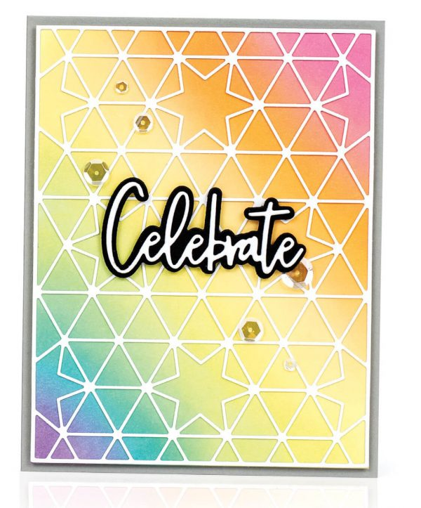 Scrapbook & Cards Today - Summer 2019 - Celebrate card by Laura Bassen