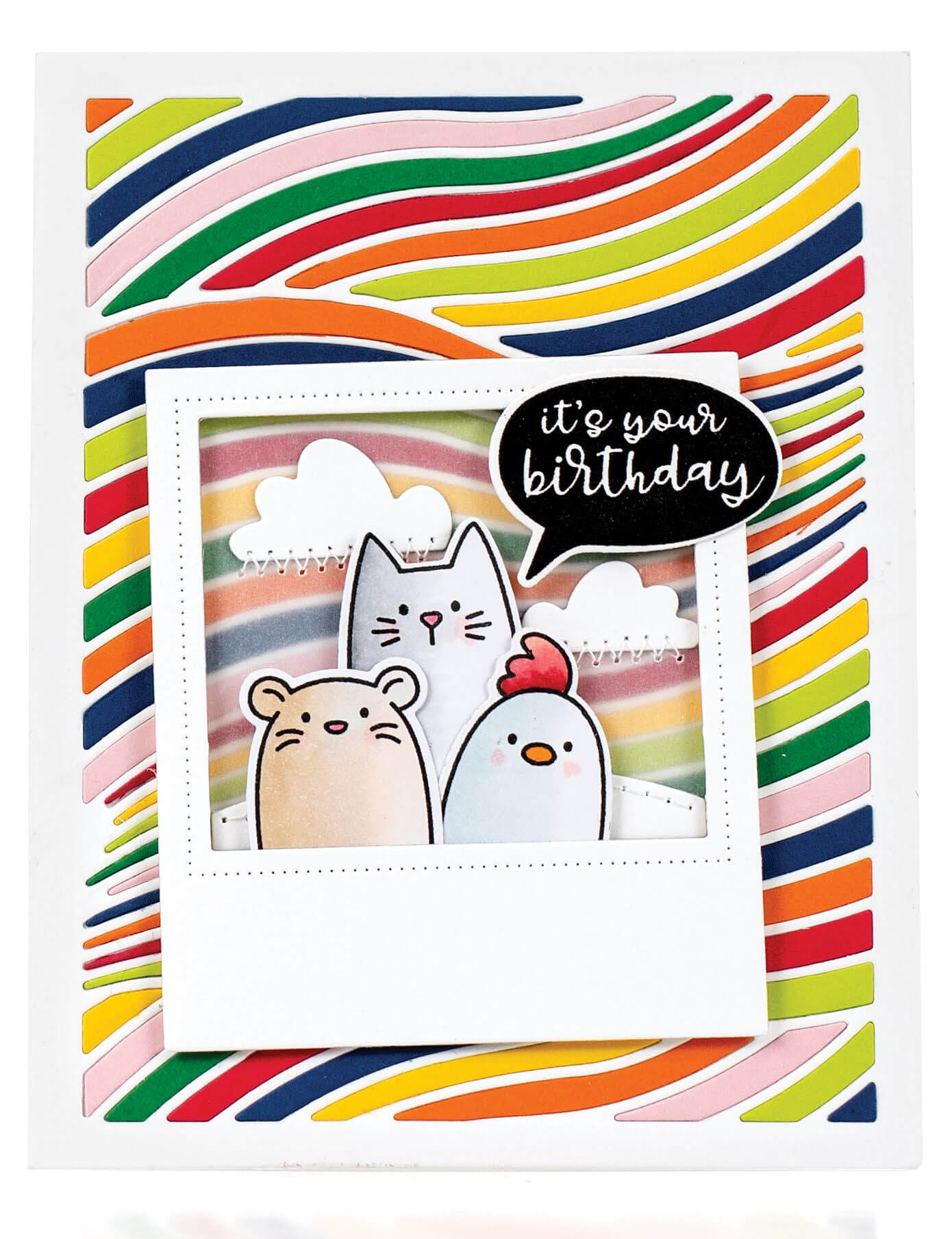 Scrapbook & Cards Today - Summer 2019 - It's Your Birthday card by Jill Dewey Hawkins