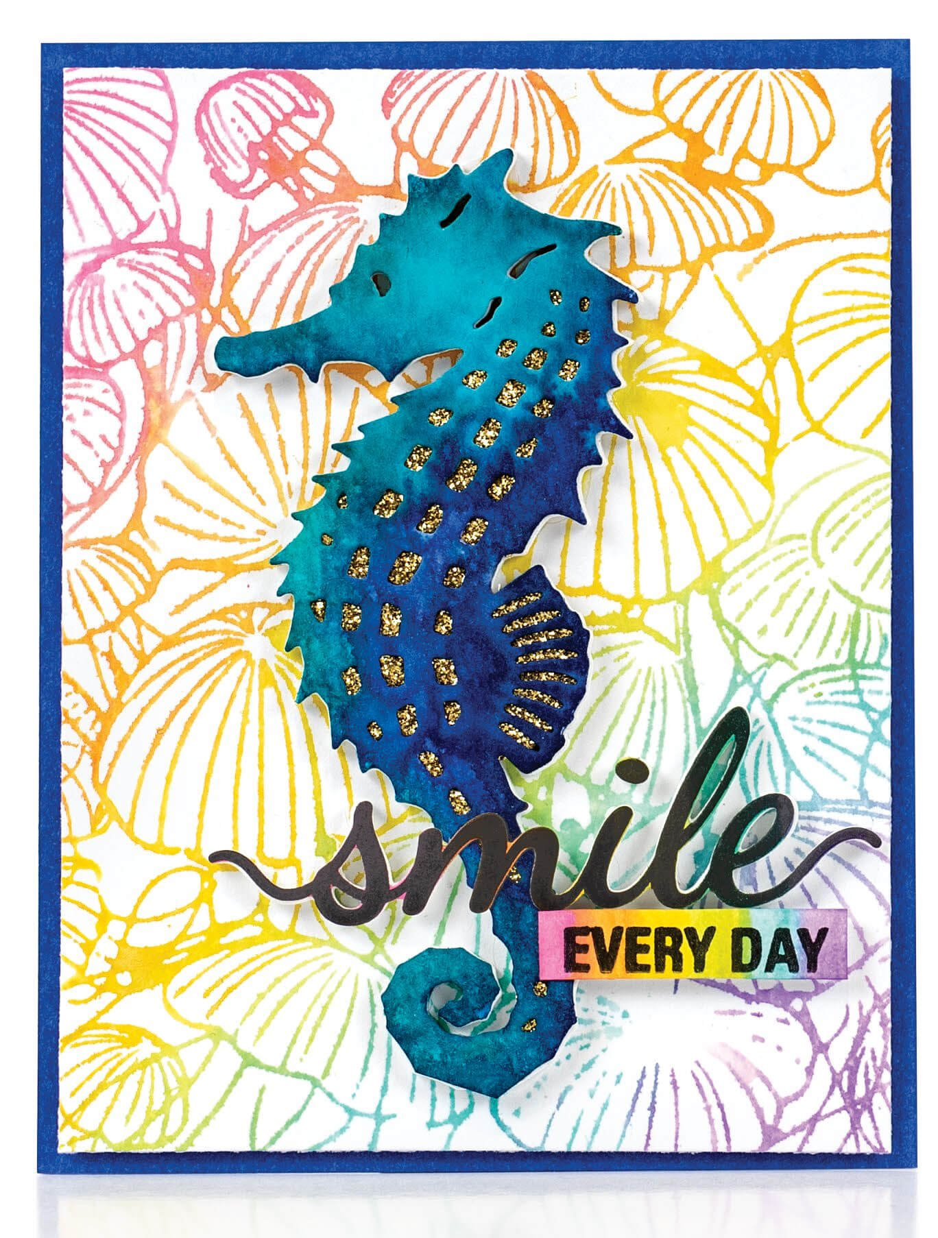 Scrapbook & Cards Today - Summer 2019 - Smile Every Day card by Jenn Shurkus