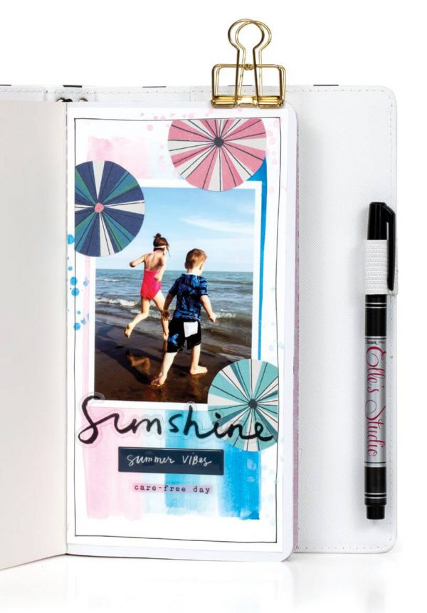 Scrapbook & Cards Today - Summer 2019 - Summertime Love Traveller's Notebook by Jess Forster