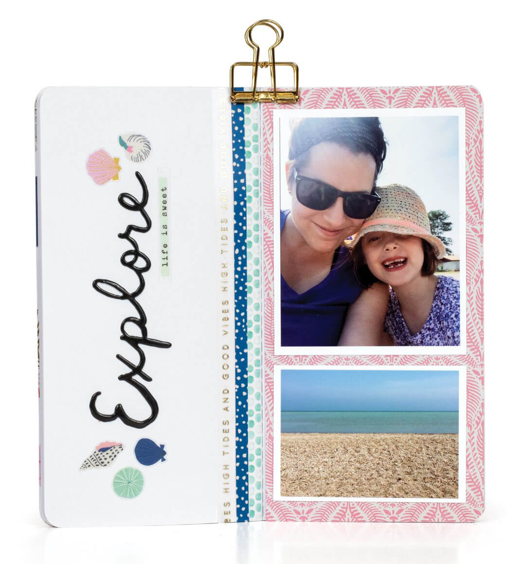 Scrapbook & Cards Today - Summer 2019 - Summertime Love Traveller's Notebook by Jess Forster