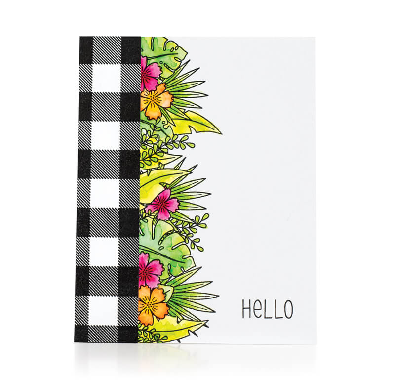 Scrapbook & Cards Today - Summer 2019 - Hello card by Tifany Degough