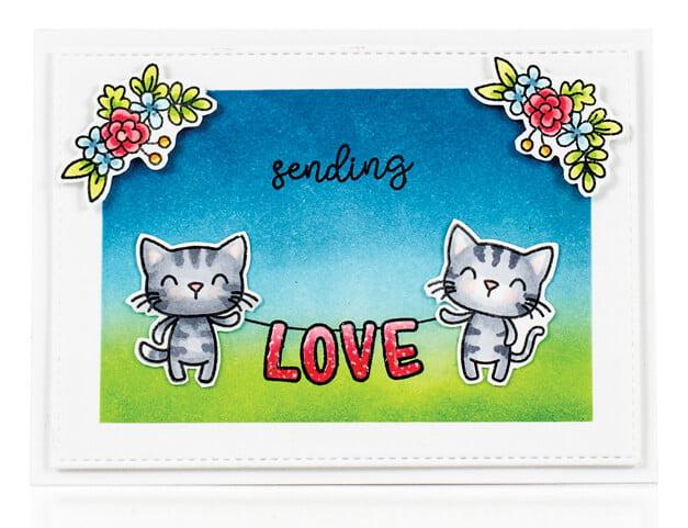 Scrapbook & Cards Today - Summer 2019 - Sending Love card by Karin Akesdotter