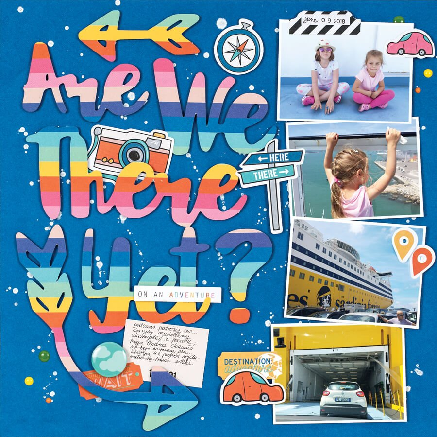 Scrapbook & Cards Today - Summer 2019 - Are We There Yet layout by Anna Komenda