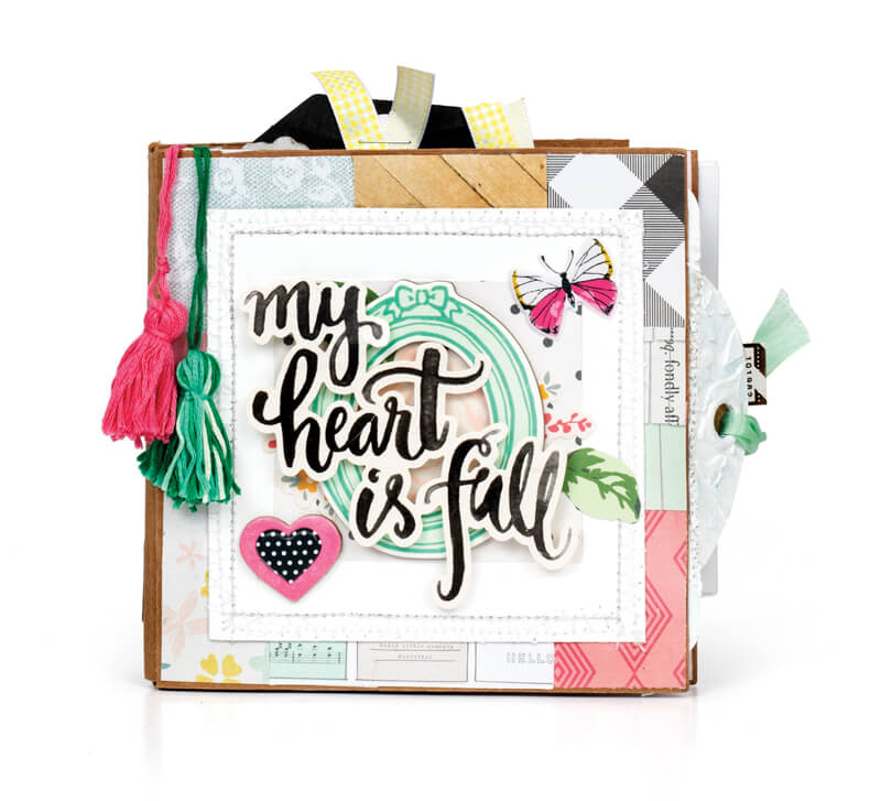 Scrapbook & Cards Today - Summer 2019 - My Heart is Full Mini Album by Ashley Yoder