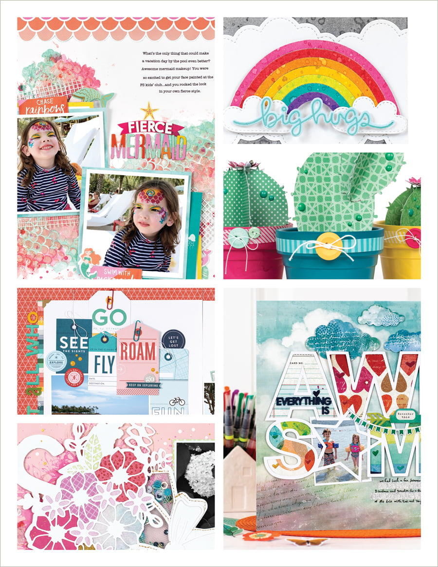 Scrapbook & Cards Today - Summer 2019 - Collage