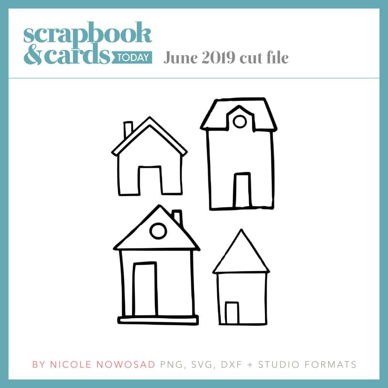 Scrapbook & Cards Today June 2019 free cut file