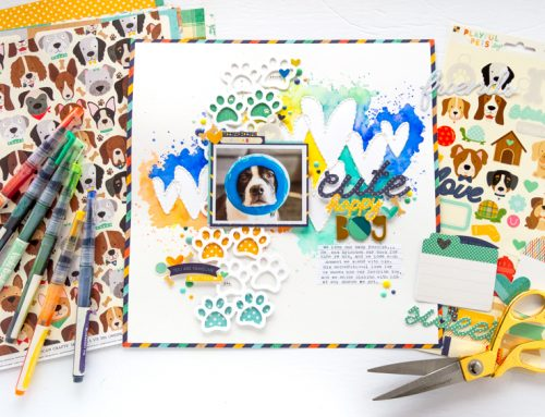 A sweet fur baby layout by Nathalie DeSousa!