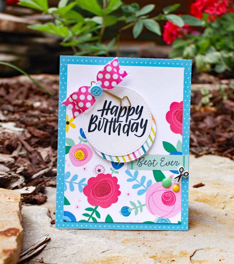 Happy Birthday card by Susan R. Opel for Scrapbook & Cards Today