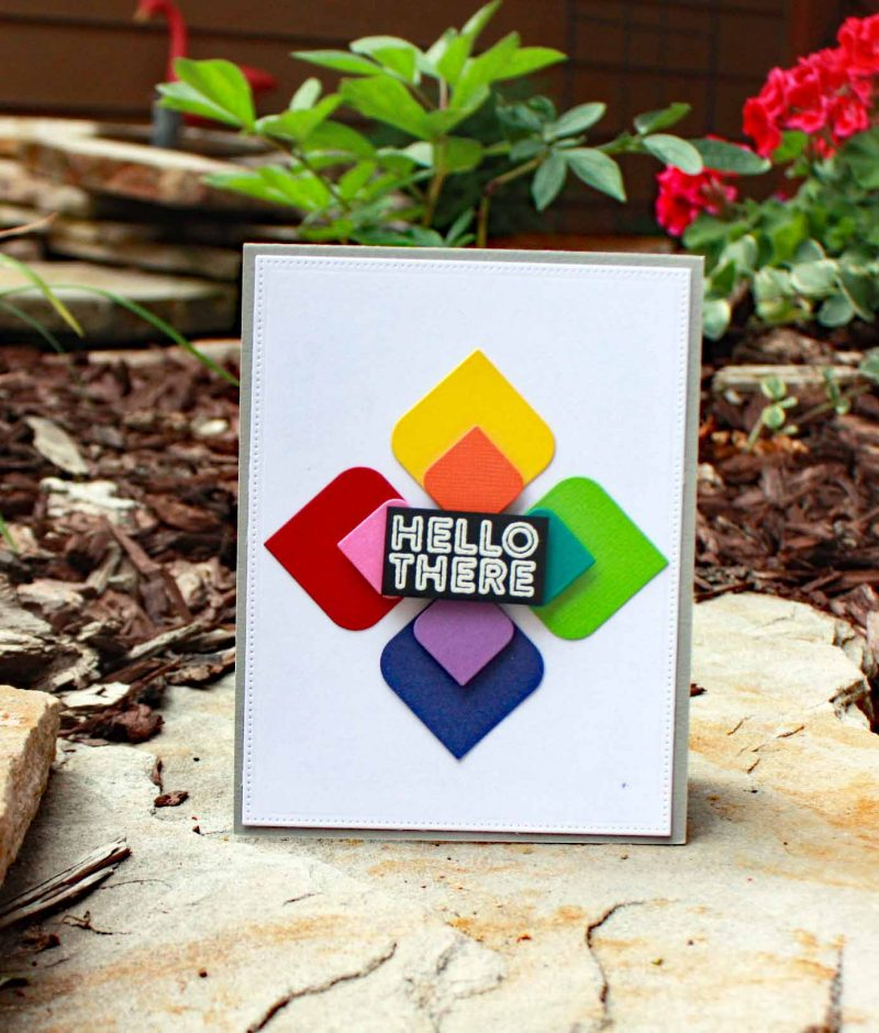 Hello There card by Susan R. Opel for Scrapbook & Cards Today