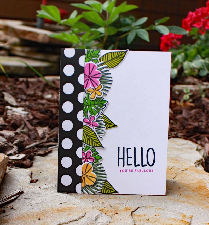 Hello You're Fabulous card by Susan R. Opel for Scrapbook & Cards Today