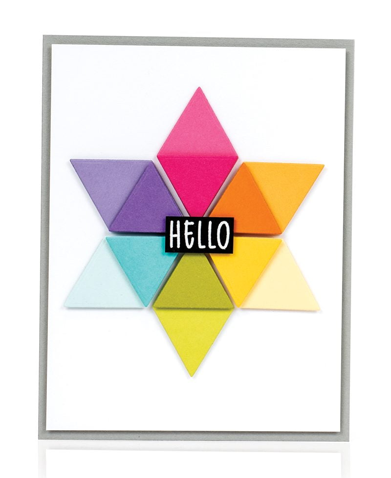 Hello card by Laura Bassen for Scrapbook & Cards Today