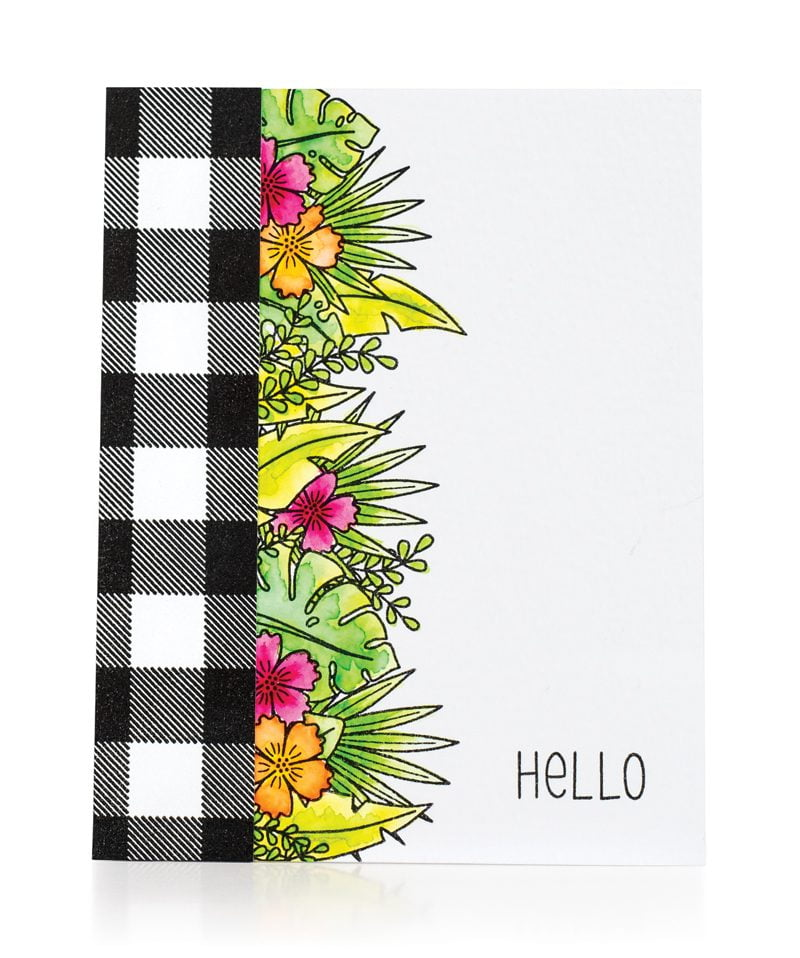 Hello card by Tifany DeGough for Scrapbook & Cards Today
