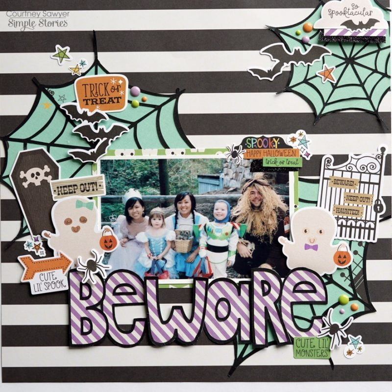 Courtney Sawyer Simple Stories Say Cheese Halloween Beware Layout 1