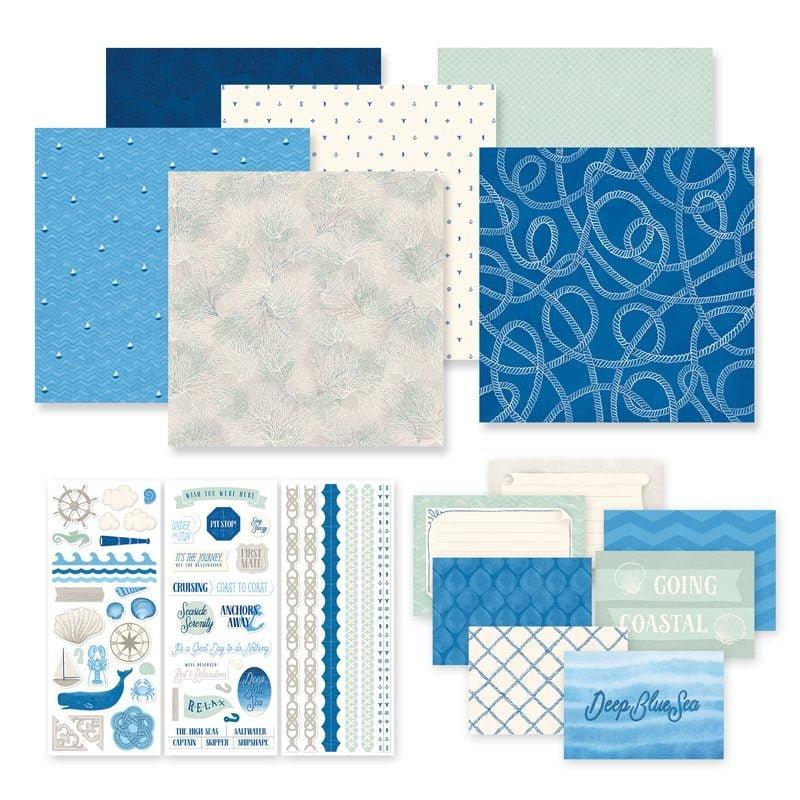Creative Memories DeepBlueSea_Papers_Stickers_Mats
