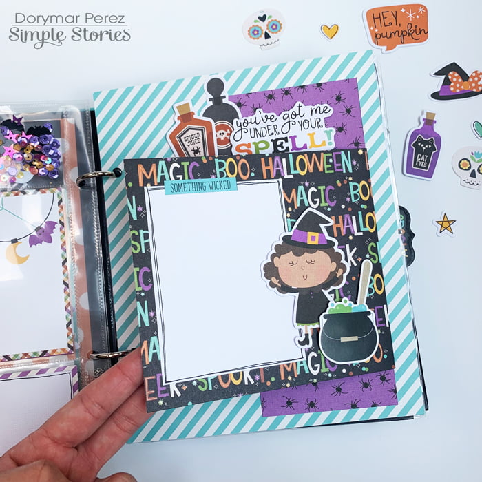 Dorymar Perez Simple Stories Say Cheese Halloween Snap Binder 2
