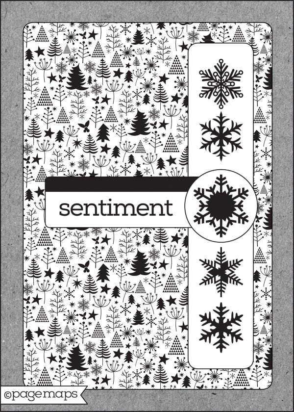 Scrapbook & Cards Today 2019 Winter Call Sketch