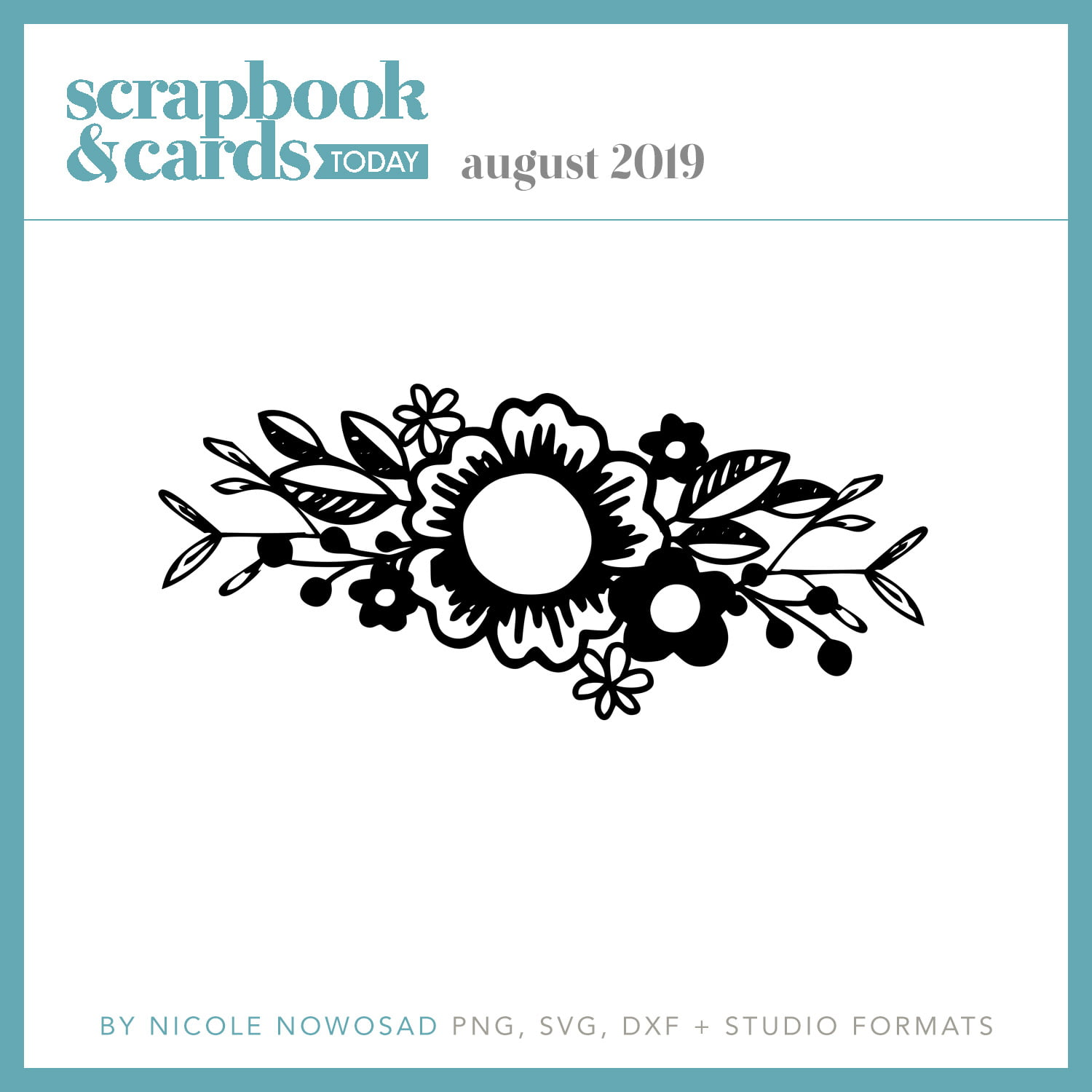 Scrapbook & Cards Today August 2019 Freebie