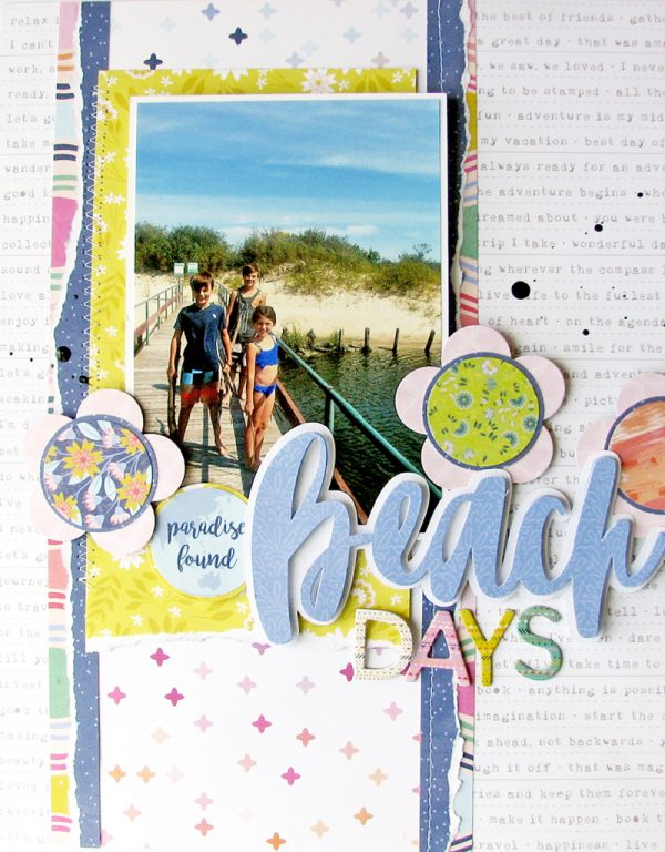 Beach Days Layout by Nicole Nowosad for SCT Magazine