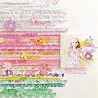 Amazing Layout by Paige Evans for Scrapbook & Cards Today Magazine